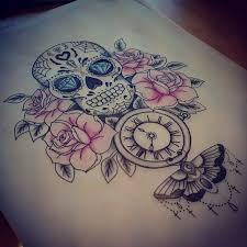 best 25 sugar skull sleeve ideas on half sleeve