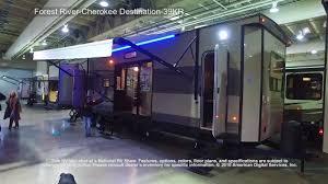 destination trailer floor plans forest river cherokee destination 39kr youtube