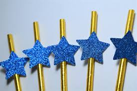 Blue And Gold Baby Shower Decorations by Blue And Gold Star Straws Twinkle Twinkle Little Star Decorations