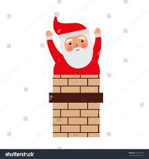 santa claus chimney card stock vector 727013764