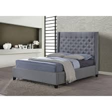 luxeo huntington gray king upholstered bed lux k6479 gry the