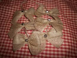 burlap christmas ready for a country christmas a set of 6