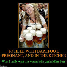 Woman Kitchen Meme - to hell with barefoot pregnant and in the kitchen what i