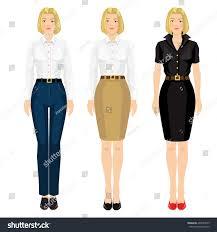 vector illustration corporate dress code pretty stock vector