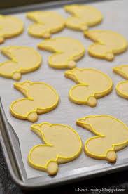 i heart baking baby shower duckie and onesie cookies