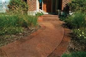 Concrete Stain Colors For Patios Transform Sidewalks With The Look Of Stone