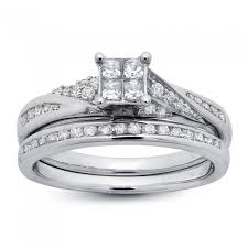twisted band engagement ring white gold princess cut twisted engagement ring and band