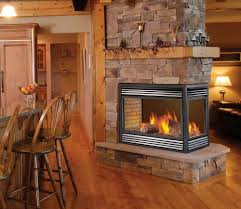 3 sided gas fireplace logs home design ideas