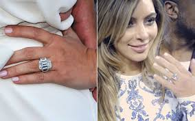 Kim Kardashian Wedding Ring by Kim Kardashian And Kanye West Are Engaged Which Of Her Rings Is