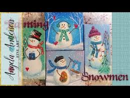 easy snowman ornaments acrylic painting tutorial free live
