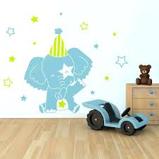 stickers chambre bébé fille pas cher stickers chambre garcon sticker mural au motif enfant elacphant