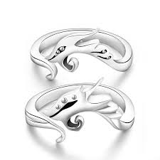 matching rings and 925 sterling silver mens size adjustable
