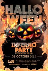 halloween inferno party flyer template by darkmonarch graphicriver