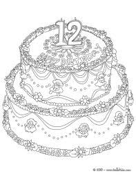 Birthday Cake 6 Years Coloring Pages Hellokids Com Birthday Cake Coloring Pages