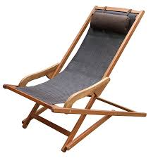 Canvas Sling Back Chairs by Amazon Com Outdoor Interiors Sling And Eucalyptus Lounger With