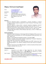 format of cb format of cv resume templates memberpro co