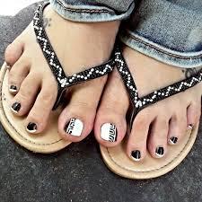 23 black toe nail art designs ideas design trends premium