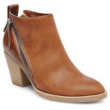 brown leather boots womens target s dv side zip booties target