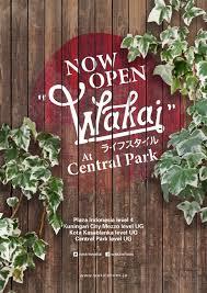 Harga Sepatu Wakai Taman Anggrek now open wakai at central park jakarta wakai shoes