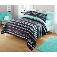 bedroom tiffany blue chevron bedding painted wood decor piano
