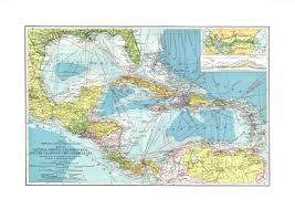 Map Of Middle America by Political Map Of Central America And The Caribbean Nations
