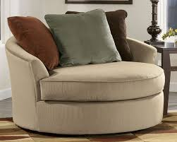 Single Armchairs For Sale Round Single Sofa In Brown With Three Throw Pillows Part Of