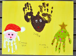 handprint christmas countdown craft play cbc parents