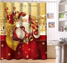 Santa Curtains Santa Shower Curtains Curtain Collections