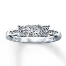 jared diamond ring 1 10 ct tw cut 10k white gold