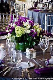 decoration artistic picture of purple wedding table decoration