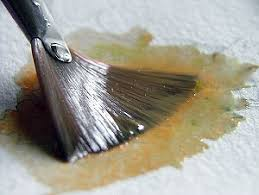 fan brush oil painting old masters maroger black oil painting medium and linseed oil
