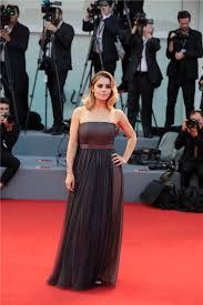 celebrity style greta scarano at red carpet 74th venice film