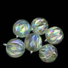 felices pascuas collection 8ct clear iridescent finial shatterproof