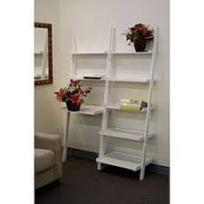 Ladder Desk With Shelves by Writing Desk And Stool W White Color Finish Pine Wood By Poundex