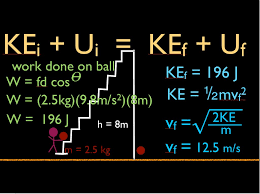 physics work potential and kinetic energy and conservation of