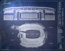 gillette stadium floor plan gillette stadium new england patriots superbowl ballpark