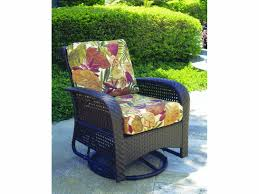 south sea rattan martinique wicker cushion swivel glider lounge