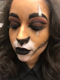 my halloween makeup of scar from the lion king beauty by jazmin