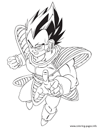 dragon ball cool vegeta coloring coloring pages printable