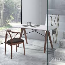 White Modern Desks by Zuo Modern Saints Desk Walnut U0026 White 100147 Modern Furniture