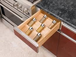 amazon com rev a shelf 4sdi 18 large wood spice drawer insert