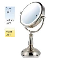conair led lighted mirror led lighted mirror incredible ovente smarttouch cool warm daylight