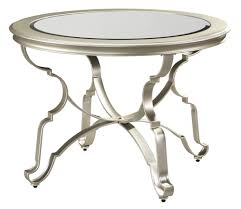 shollyn silver round dining room table d390 15 tables