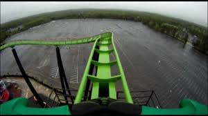 New York Six Flags Great Adventure Green Lantern Pov Roller Coaster Front Seat Six Flags Great