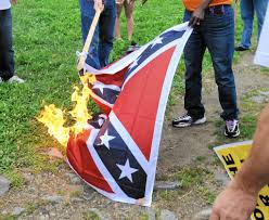 Burning Red Flag Confederate Flag Burned In Baltimore On Fourth Of July To Protest