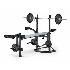 York 6605 Bench York Fitness B501 Folding Barbell Bench Home Weight Training