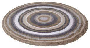 Contemporary Bath Rugs Taupe Round Non Slip Washable Bathroom Rug Mandala Contemporary