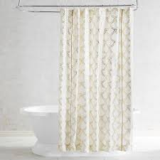 Pier One Paisley Curtains by Foil Scalloped Ivory Shower Curtain Pier 1 Imports