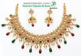 gold set in pakistan 22k gold diamond necklace drop earrings set with south sea