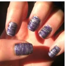 purple fan brush nail art by lindsay h preen me